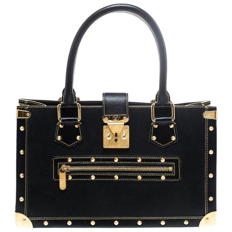 Louis Vuitton Black Suhali Leather Le Fabuleux Bag For Sale