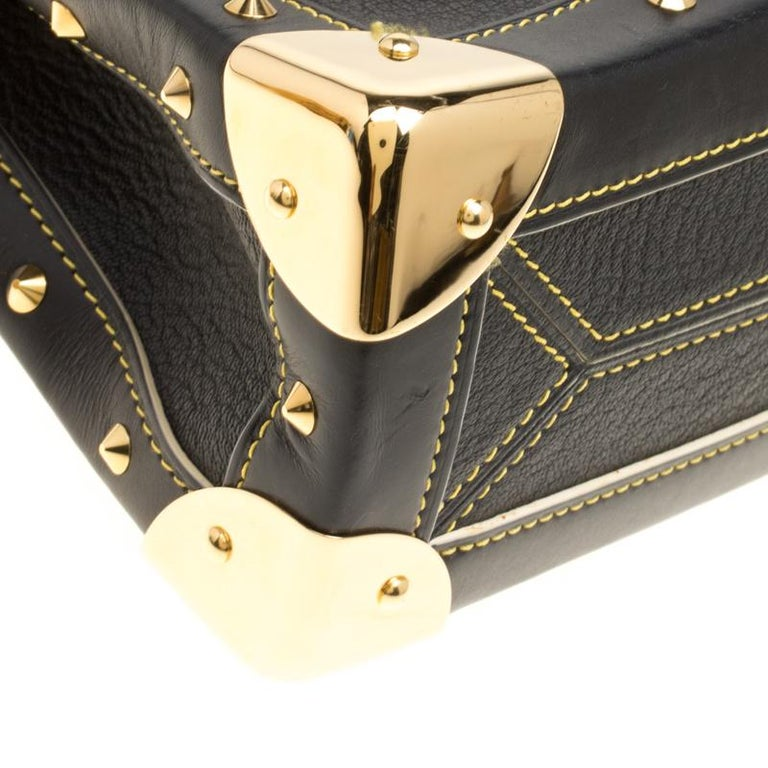 Louis Vuitton Black Suhali Leather Le Talentueux Bag For Sale 6