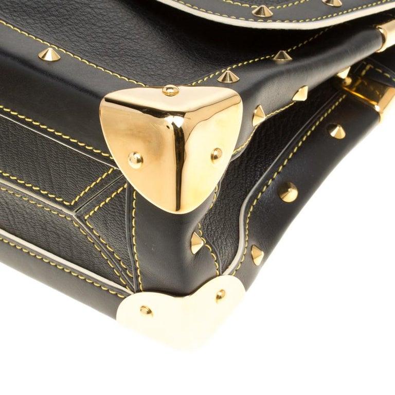 Louis Vuitton Black Suhali Leather Le Talentueux Bag For Sale 7