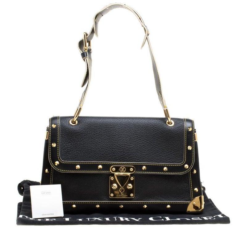 Louis Vuitton Black Suhali Leather Le Talentueux Bag For Sale 8