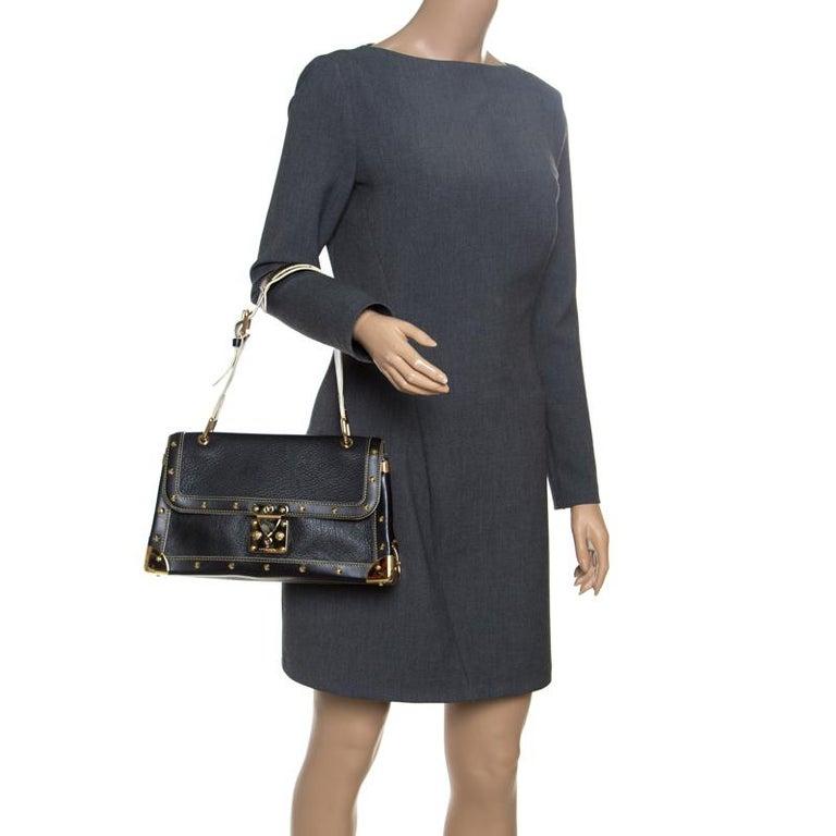 Louis Vuitton Black Suhali Leather Le Talentueux Bag In Good Condition For Sale In Dubai, Al Qouz 2