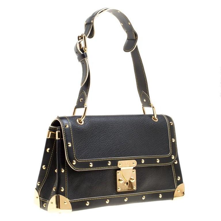 Women's Louis Vuitton Black Suhali Leather Le Talentueux Bag For Sale