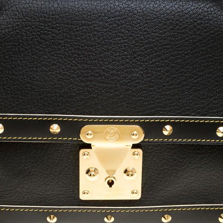 Louis Vuitton Black Suhali Leather Le Talentueux Bag For Sale 1