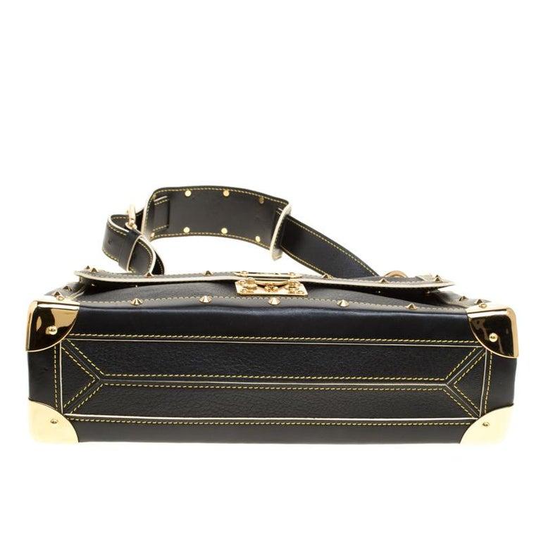 Louis Vuitton Black Suhali Leather Le Talentueux Bag For Sale 2