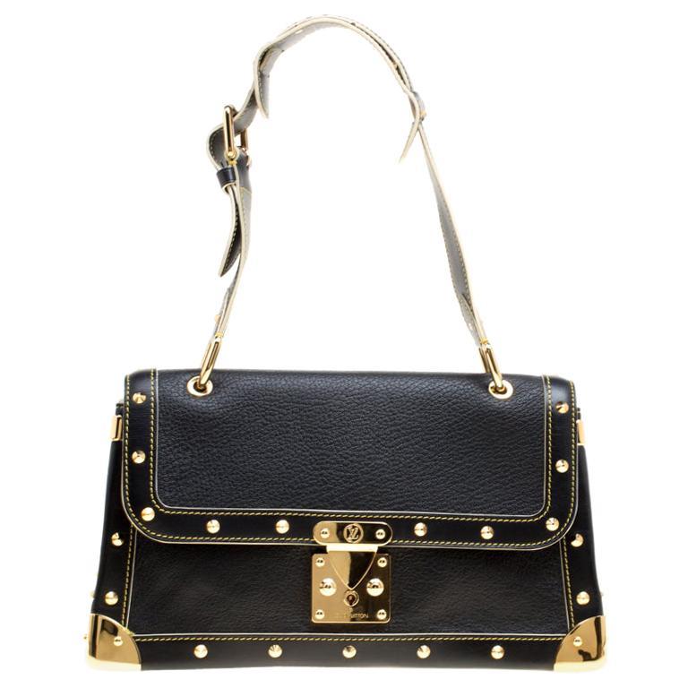 Louis Vuitton Black Suhali Leather Le Talentueux Bag For Sale