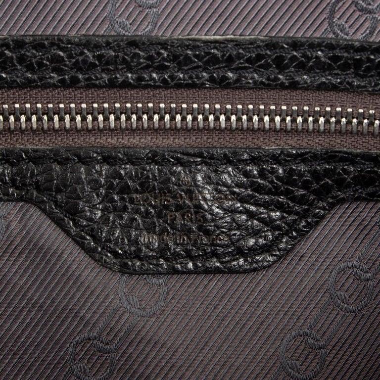 LOUIS VUITTON black Suhali leather TOBAGO TRUNKS & BAGS LTD ED Tote Bag 1