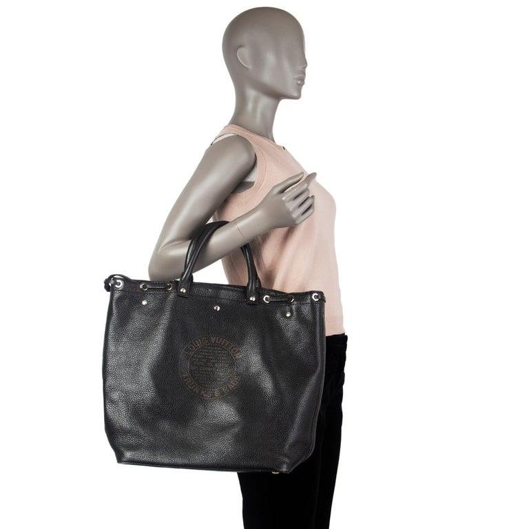 LOUIS VUITTON black Suhali leather TOBAGO TRUNKS & BAGS LTD ED Tote Bag 2