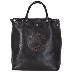 LOUIS VUITTON black Suhali leather TOBAGO TRUNKS & BAGS LTD ED Tote Bag