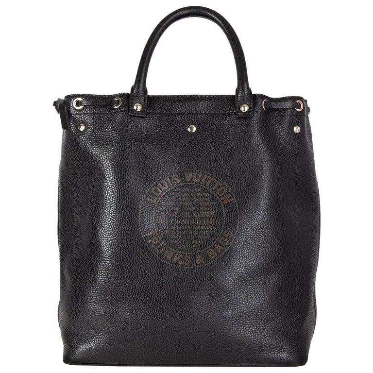 LOUIS VUITTON black Suhali leather TOBAGO TRUNKS & BAGS LTD ED Tote Bag