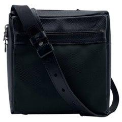 Louis Vuitton Black Taiga Green Canvas Sayan Messenger Bag