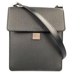 LOUIS VUITTON Black Taiga Leather Rectangle Shoulder Bag