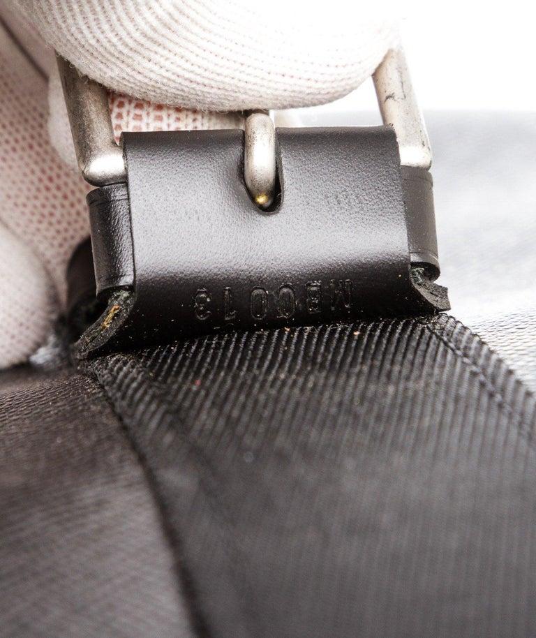 Louis Vuitton Black Taiga Leather Satellite 53 Suitcase For Sale 1