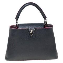 Louis Vuitton Black Taurillon Leather Capucines BB Bag