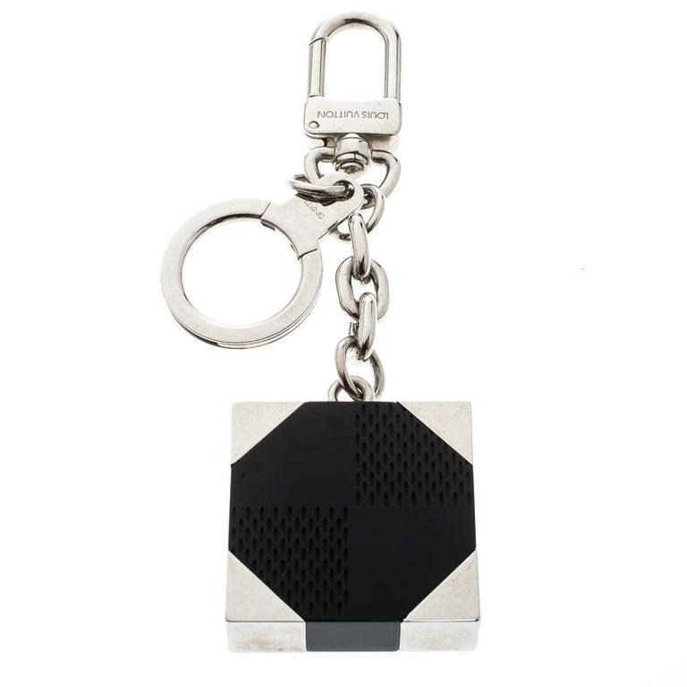 Louis Vuitton Black Textured Resin Silver Tone Bag Charm