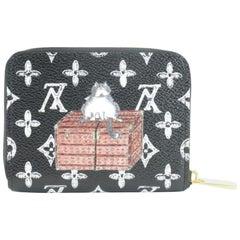 Louis Vuitton Black (Ultra Rare) Grace Zippy Coin Pouch 6lz1102 Wallet