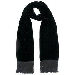 Louis Vuitton Black Velvet Monogram Scarf