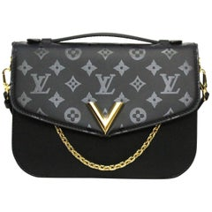 Louis Vuitton Black Very Messenger Bag