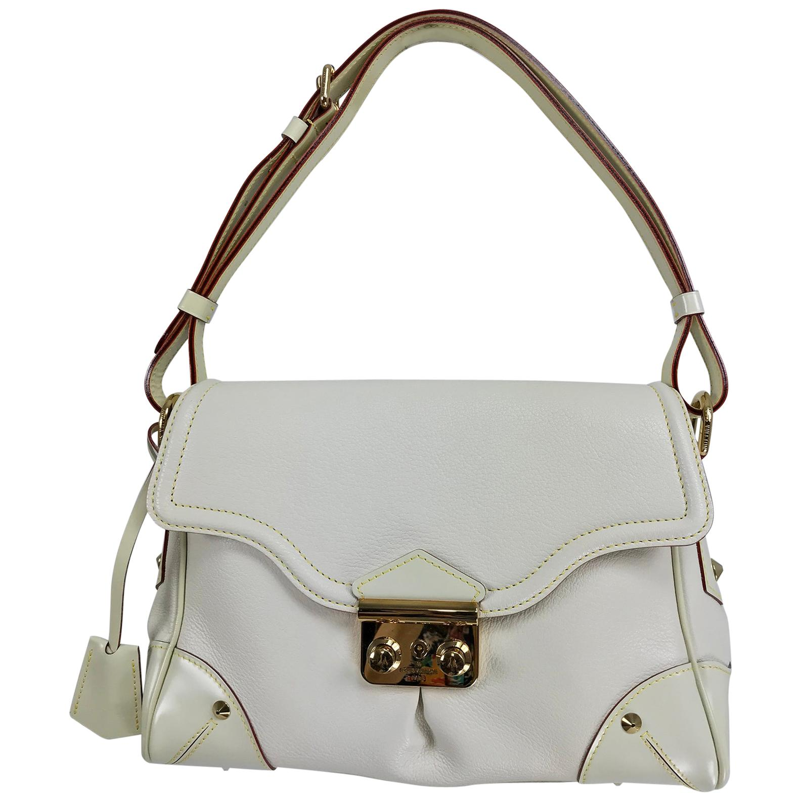 Louis Vuitton Blanc Suhali Leather L'Essentiel PM Bag 2009