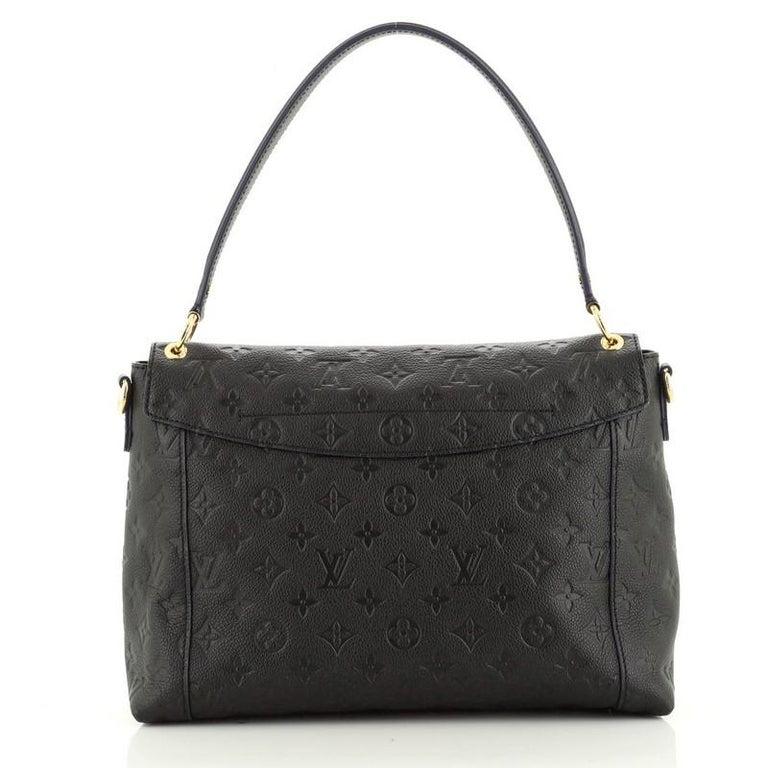 Louis Vuitton  Blanche Handbag Monogram Empreinte Leather MM In Good Condition In New York, NY