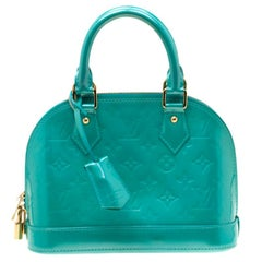 Louis Vuitton Bleu Lagon Monogram Vernis Alma BB Bag