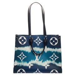 Louis Vuitton Bleu Monogram Coated Canvas Onthego GM Bag
