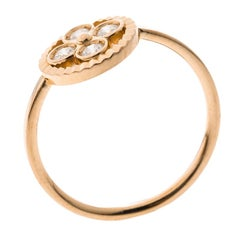 Louis Vuitton Blossom BB Diamond 18k Rose Gold Ring Size 51