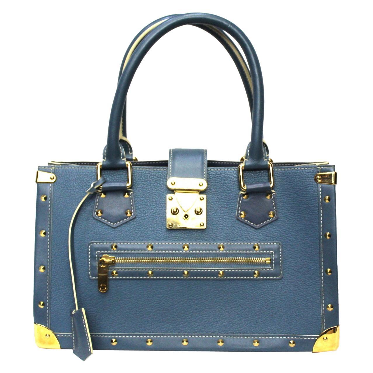 Louis Vuitton Blu Leather Suhali le Fabuleaux Bag