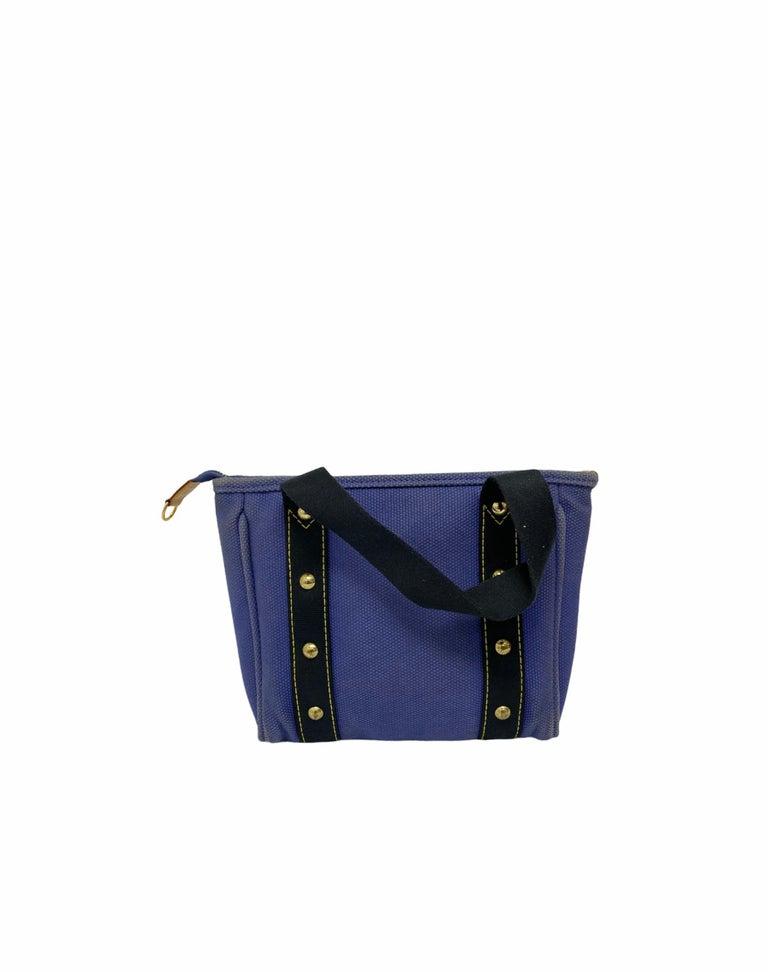 Louis Vuitton Blue Canvas Antigua Cabas PM Bag  For Sale 1