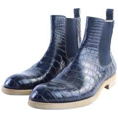 Louis Vuitton Blue Chelsea Alligator 22lr0701 Boots/Booties