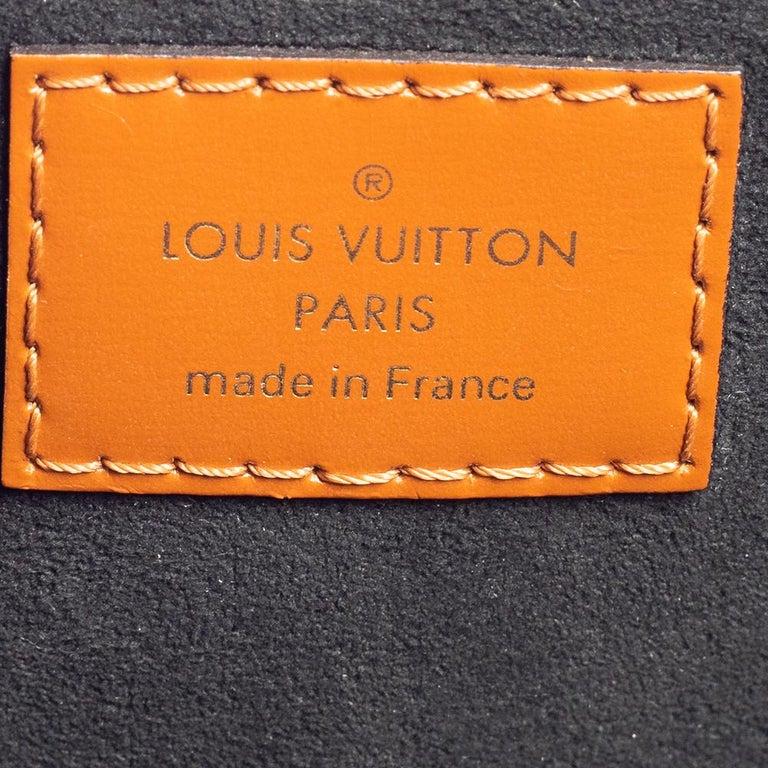 Louis Vuitton Blue Denim and Monogram Leather Alma BB Bag 1