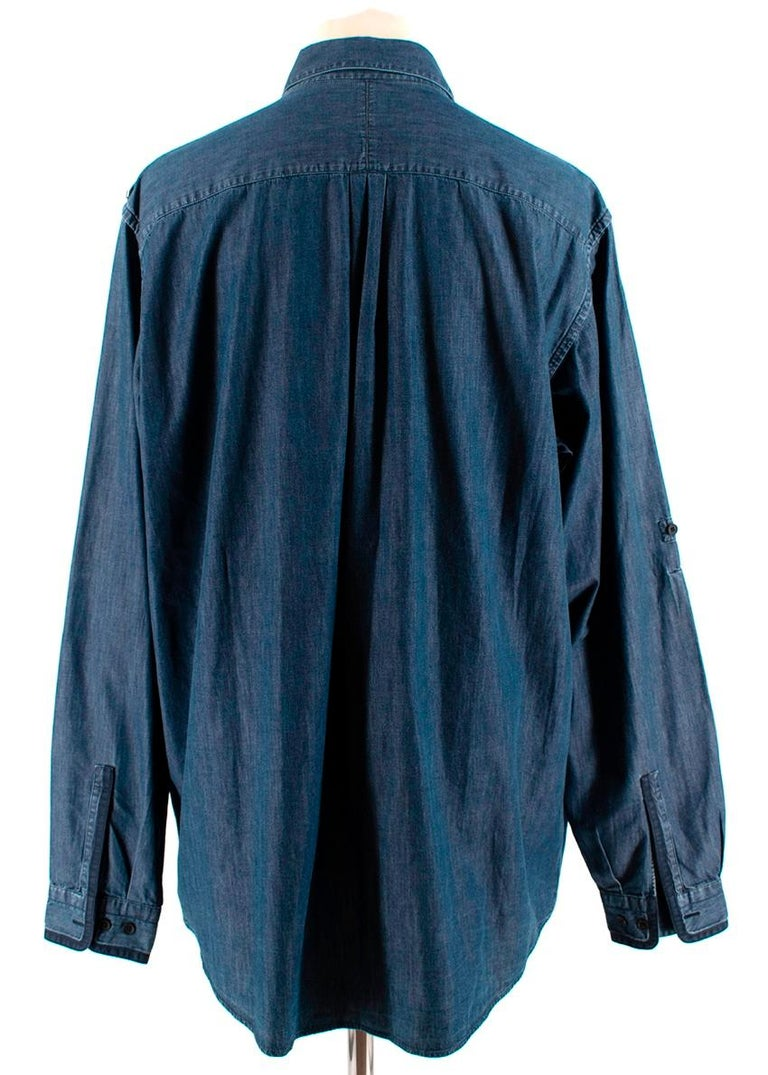 Louis Vuitton Blue Denim Long Sleeve Shirt - Size 2XL In Excellent Condition For Sale In London, GB