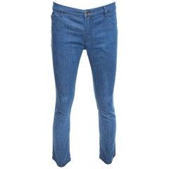 Louis Vuitton Blue Denim Straight Fit Jeans L