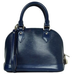 Louis Vuitton Blue Epi Leather Alma BB Crossbody Bag