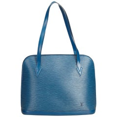 Louis Vuitton Blue Epi Lussac