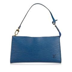 Louis Vuitton Blue Epi Pochette Accessoires