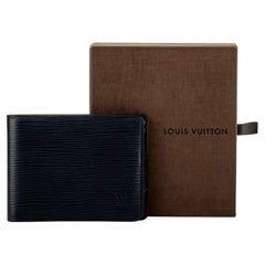 Louis Vuitton Blue Epi Wallet with Box