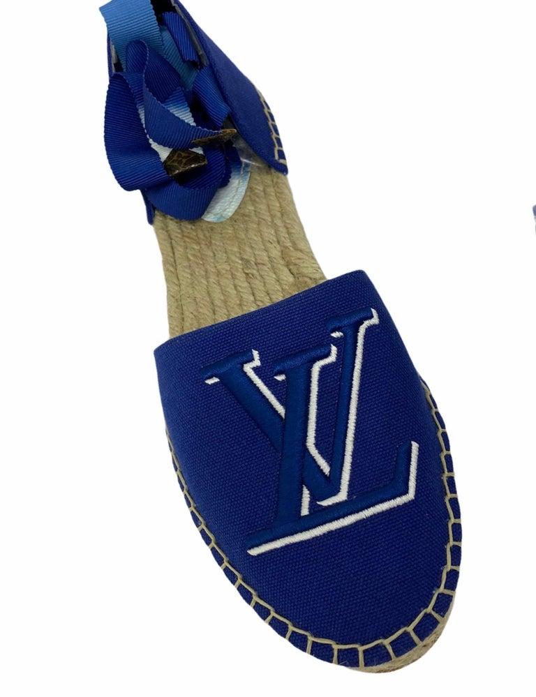Louis Vuitton Blue Espadrilles In Excellent Condition For Sale In Torre Del Greco, IT