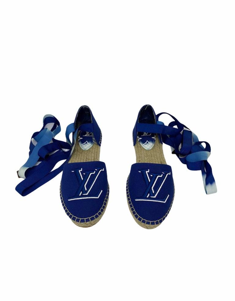 Women's Louis Vuitton Blue Espadrilles For Sale