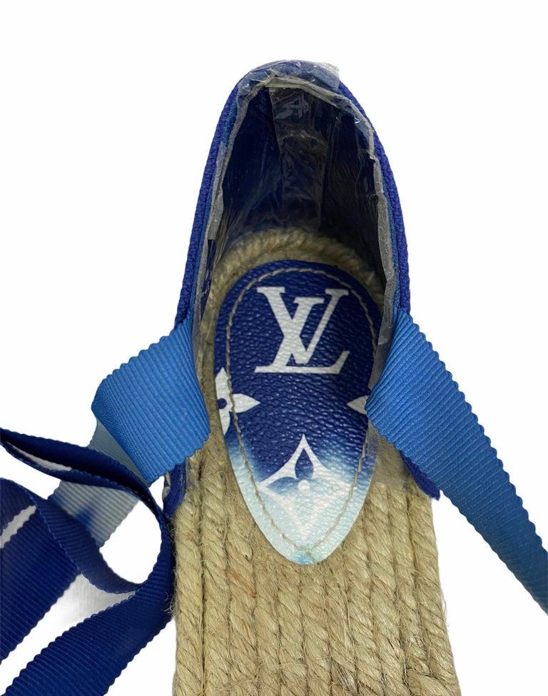Louis Vuitton Blue Espadrilles For Sale 1