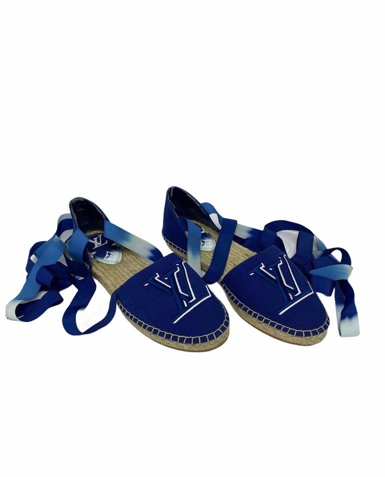 Louis Vuitton Blue Espadrilles For Sale 2