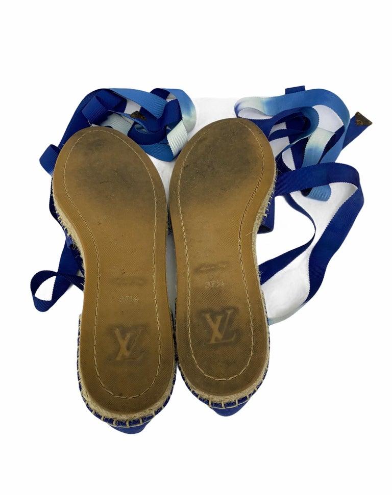 Louis Vuitton Blue Espadrilles For Sale 4