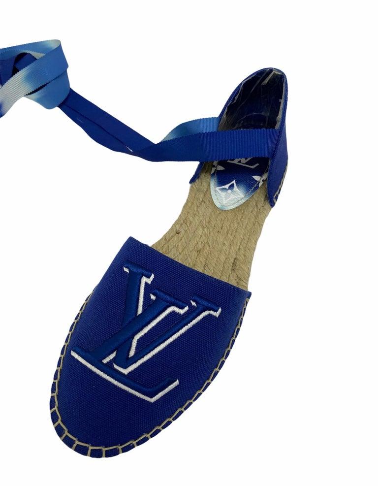 Louis Vuitton Blue Espadrilles For Sale 5