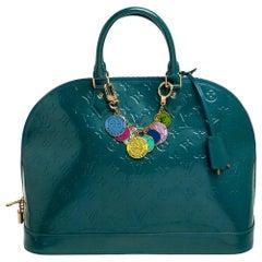 Louis Vuitton Blue Galactic Monogram Vernis Alma GM Bag