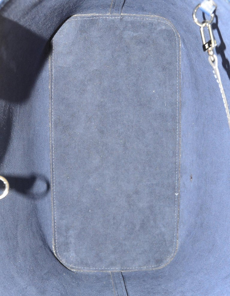 Louis Vuitton Blue Indigo Epi Leather Neverfull MM Tote Bag w/ Insert rt. $2,260 For Sale 7