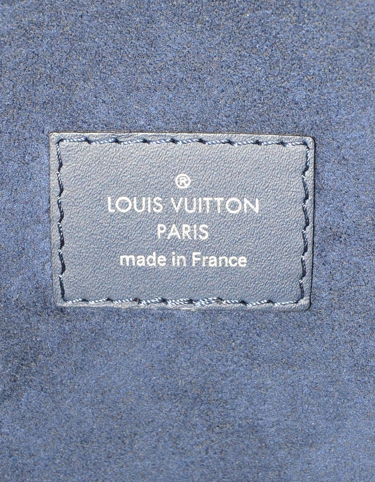 Louis Vuitton Blue Indigo Epi Leather Neverfull MM Tote Bag w/ Insert rt. $2,260 For Sale 8
