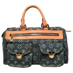 Louis Vuitton Blue Jean Denim Monogram Neo Speedy Handbag