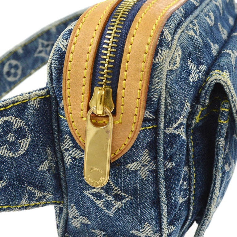 Black Louis Vuitton Blue Jean Monogram Bum Fanny Pack Waist Belt Bag For Sale