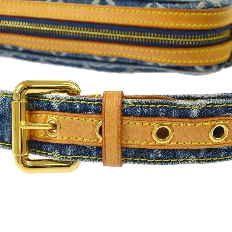 Women's Louis Vuitton Blue Jean Monogram Bum Fanny Pack Waist Belt Bag For Sale