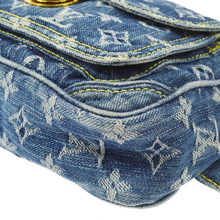Louis Vuitton Blue Jean Monogram Bum Fanny Pack Waist Belt Bag For Sale 2