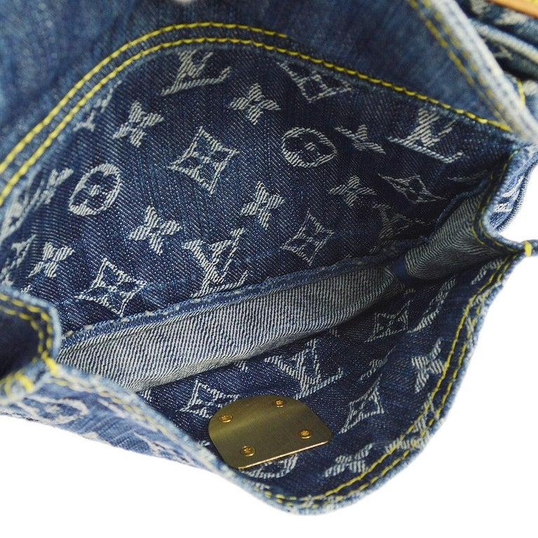 Louis Vuitton Blue Jean Monogram Bum Fanny Pack Waist Belt Bag For Sale 3